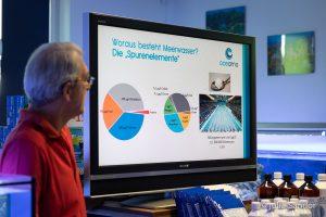 Wasseranalyse Tag im Korallenriff Center